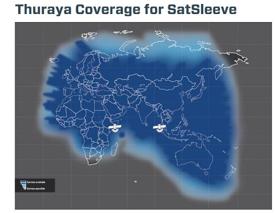 SatSleeve Coverage image 1
